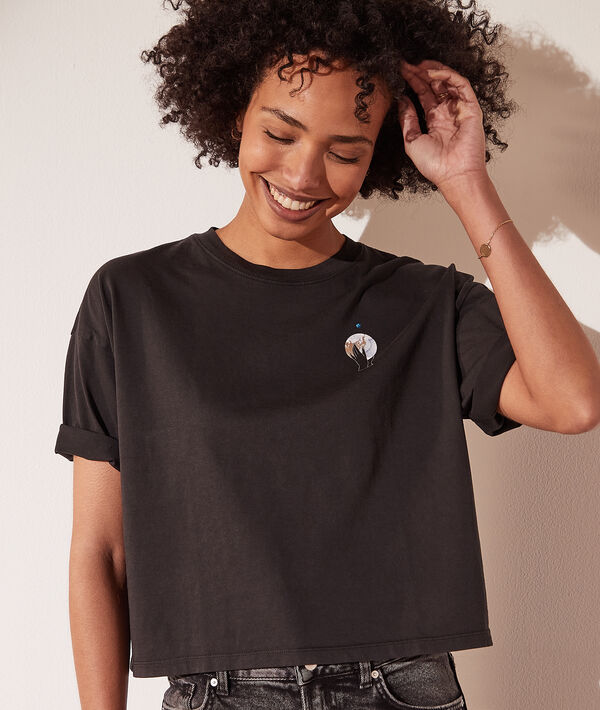 Camiseta estampado luna