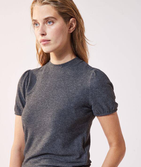 Camiseta manga corta de punto fino