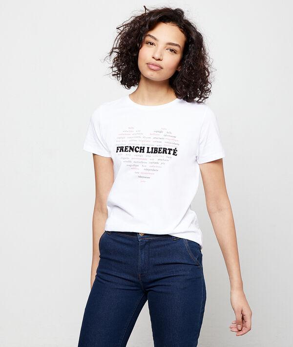 Camiseta 'French liberté' de algodón orgánico