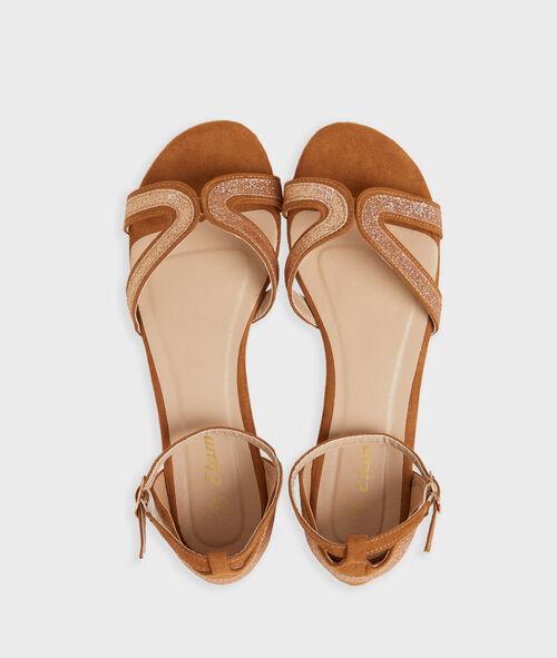 Sandalias con lentejuelas