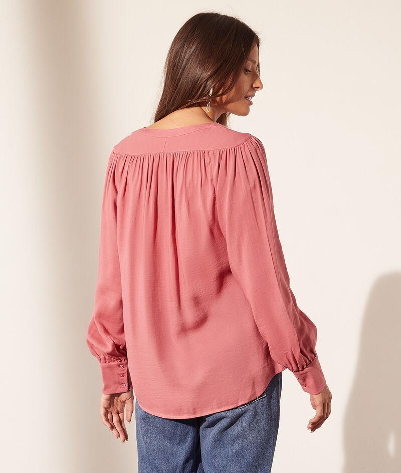 Blusa escote en V de algodón
