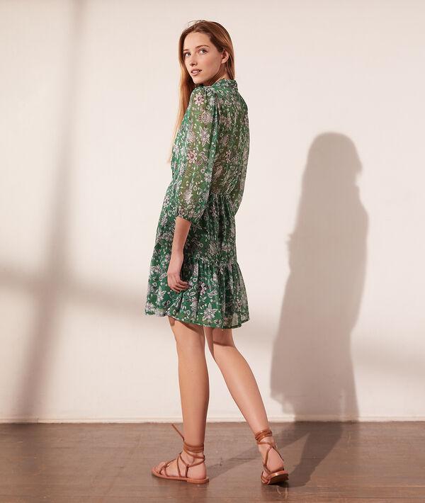 Vestido corto, estampado floral