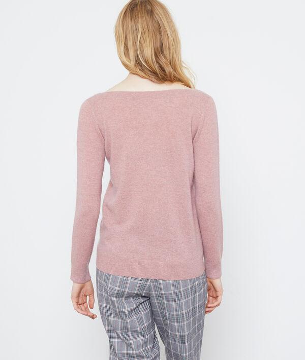 Suéter cuello de barco de cachemir