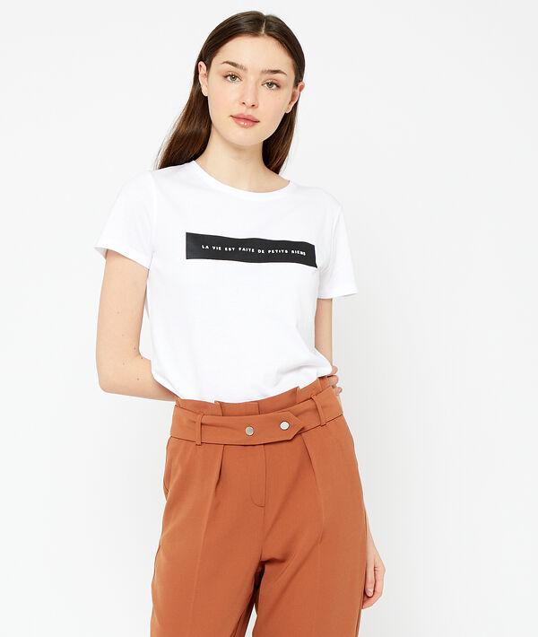 Camiseta 'La vie est faite de petits riens'