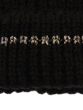 Gorro fibras metalizadas negro.