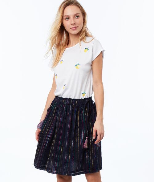 Falda estampado de rayas
