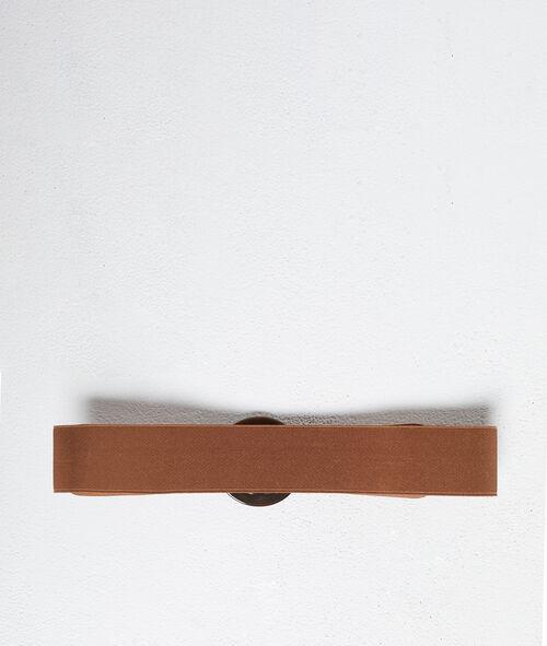 Cinturón con hebilla ambarina
