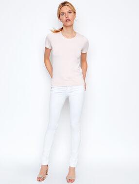 Camiseta lisa manga corta maquillaje.