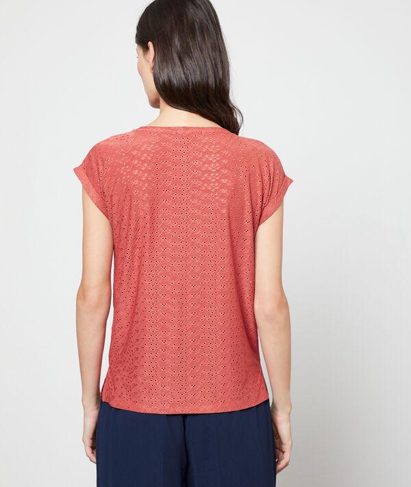 Camiseta calada cuello redondo