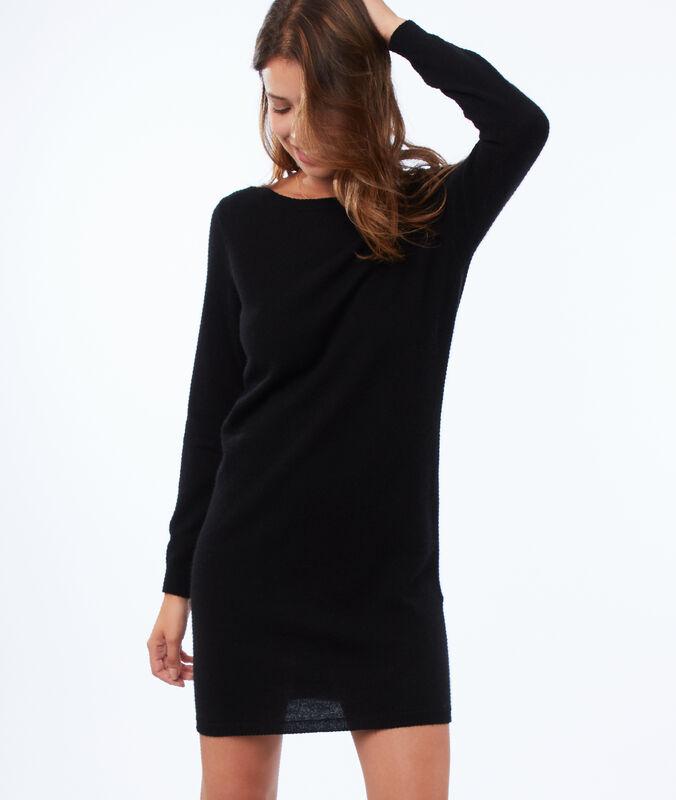 Vestido tipo jersey 100% cachemir negro.