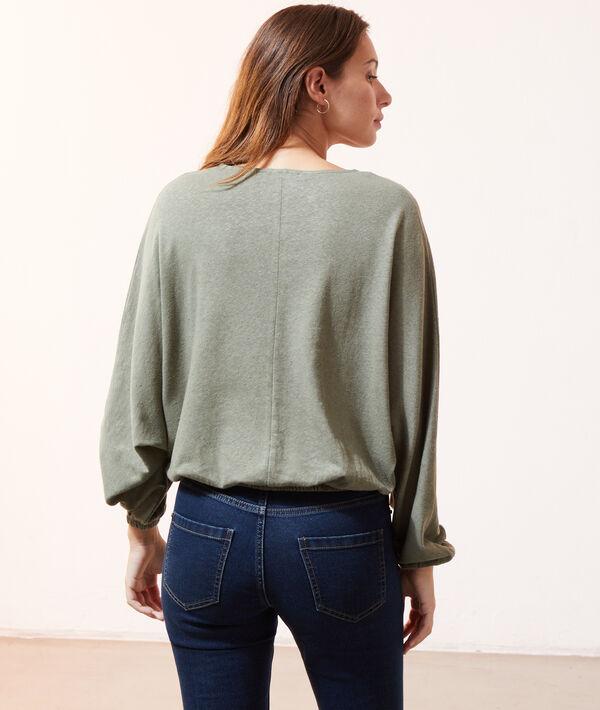 Blusa manga larga escote cruzado