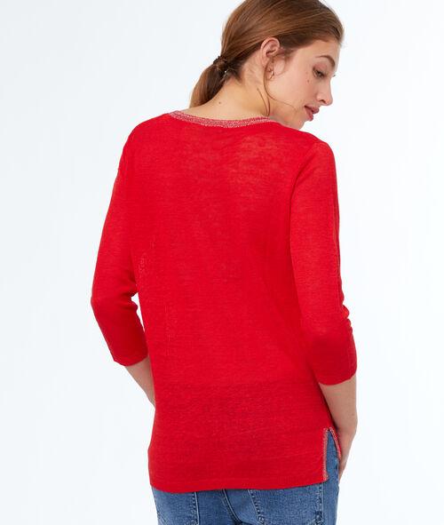 Jersey escote en V lino