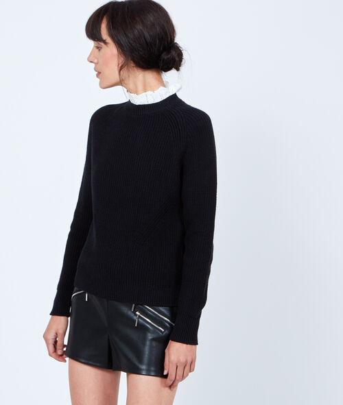 Jersey de tricot 2 en 1 con detalles de encaje