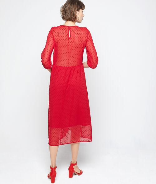 Vestido largo de plumetis