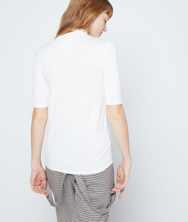 Camiseta cuello alto manga corta