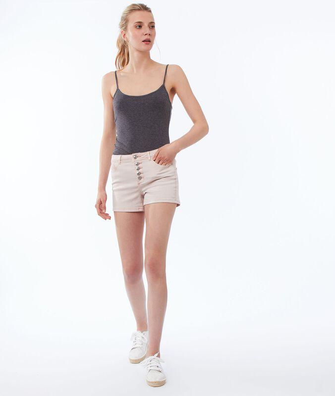 Pantalón corto cierre con botones c.nude.