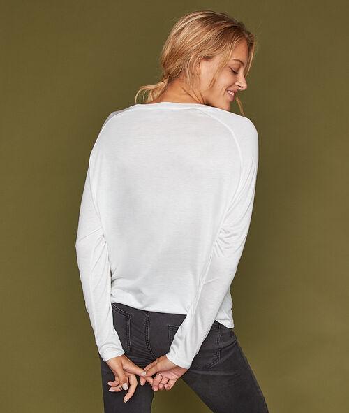Camiseta manga larga holgada