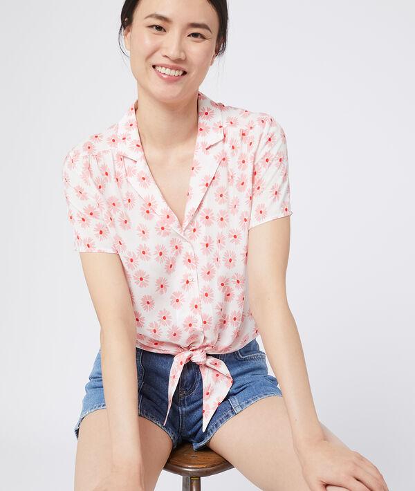 Blusa de manga corta con flores