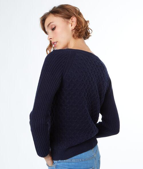 Jersey fino cordones cruzados en el hombro