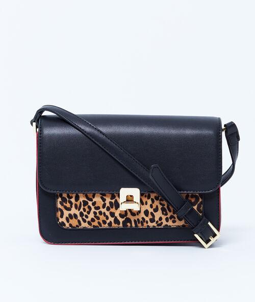 0bb646329 Bolso dos texturas estampado leopardo