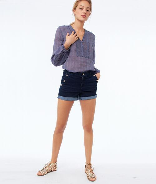Pantalón corto botones laterales