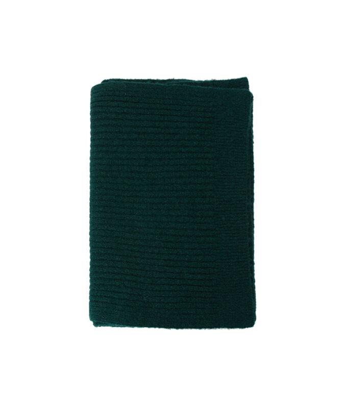 Bufanda fibras metalizadas verde.
