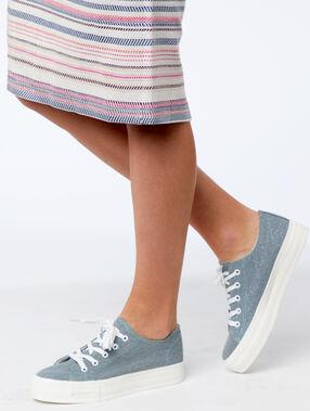 Zapatillas plataforma azul.