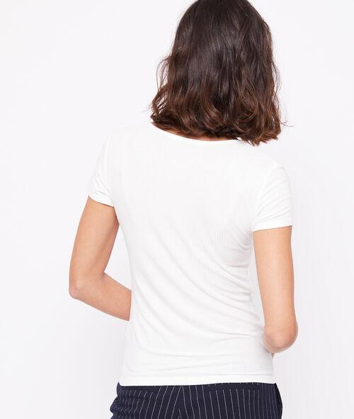Camiseta acanalada cuello barco