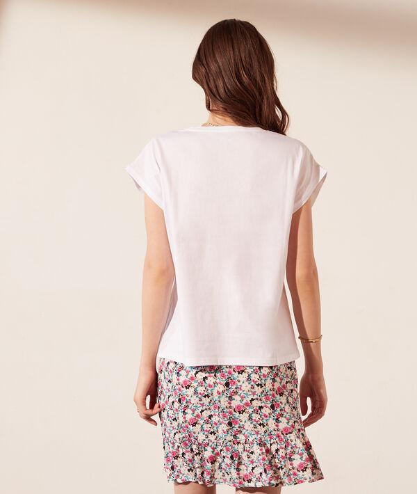 Camiseta manga corta, detalles trenzados