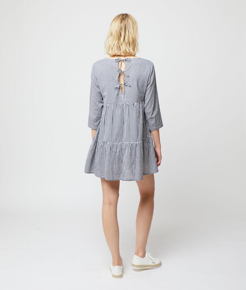 Vestido estampado vichy