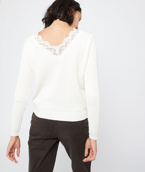Suéter espalda escotada de encaje