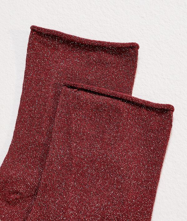 Calcetines hilos metalizados