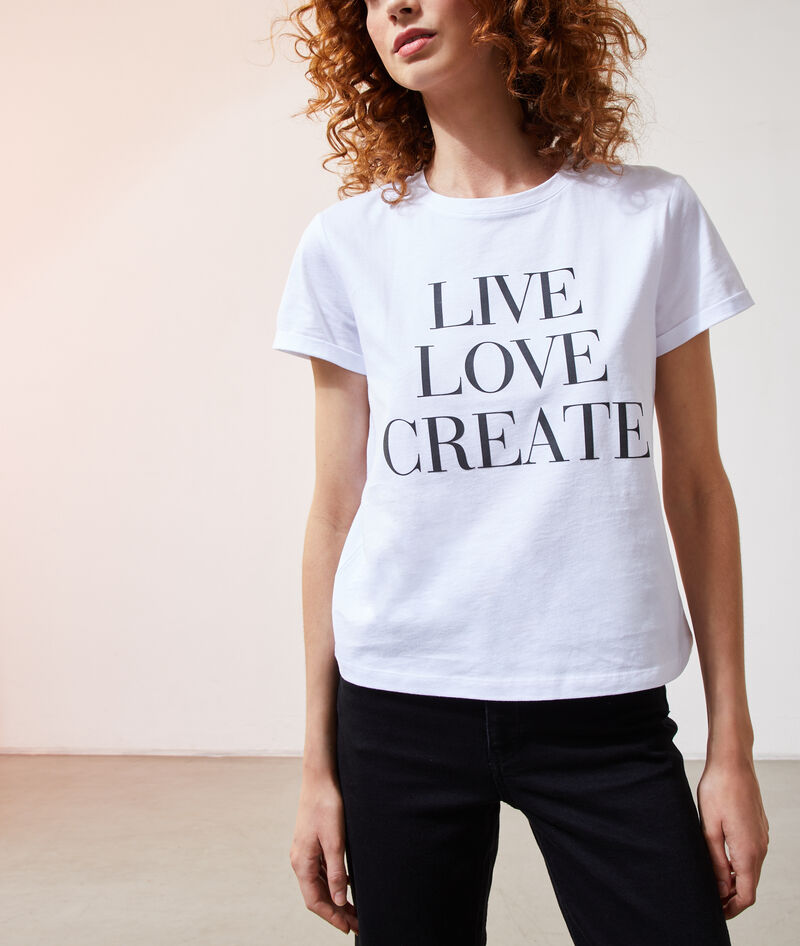 CAMISETA 'LIVE, LOVE, CREATE'