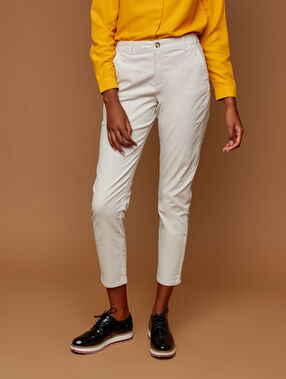 Pantalón de terciopelo 7/8 blanco.