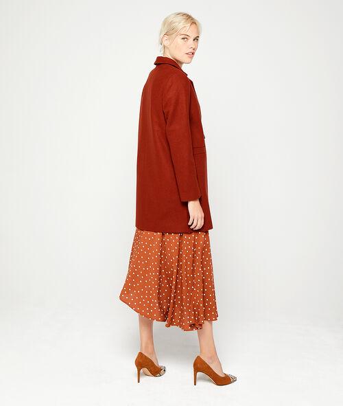 Abrigo masculino con mezcla de lana