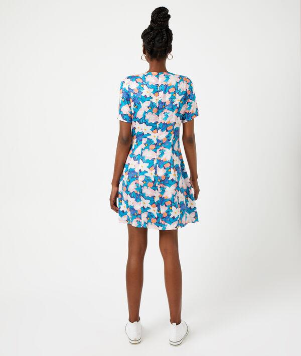 Vestido corto estampado floral