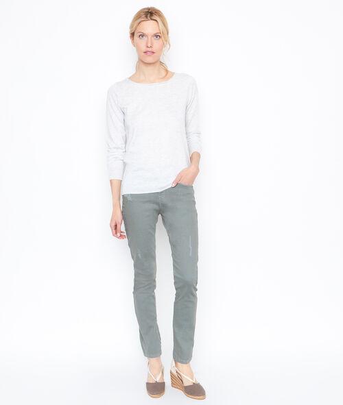 Jersey manga larga encaje espalda