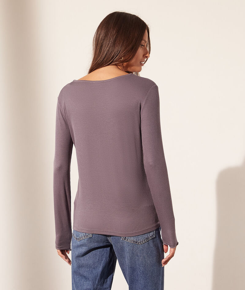 Camiseta manga larga con botones