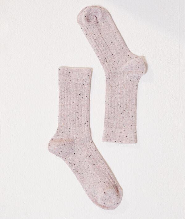 Calcetines con hilos de color