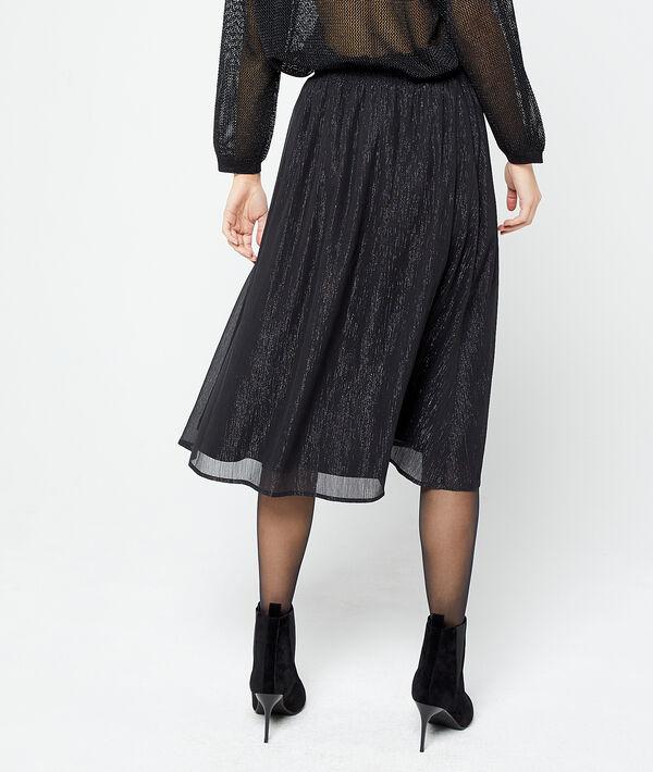 Falda midi de hilo metalizado