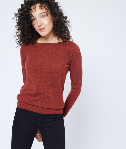 Suéter con cuello barco de cachemira