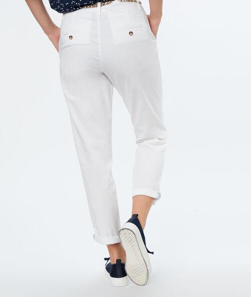 Pantalón carrot algodón con cinturón