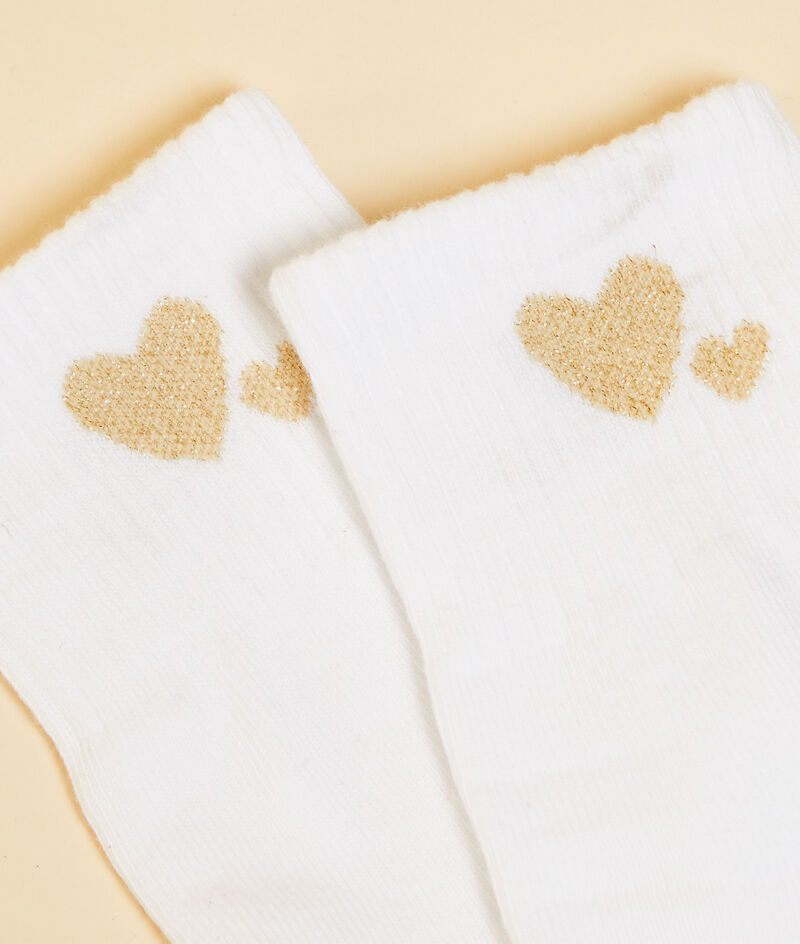 Calcetines estampado corazones