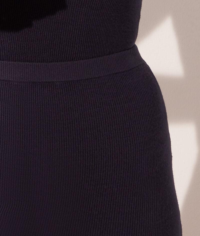 Falda midi de punto