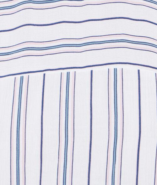 Camiseta manga corta estampado a rayas
