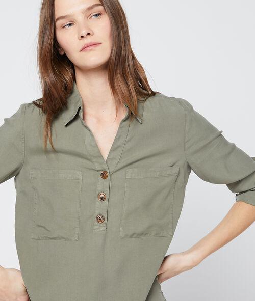 Blusa con botones de Tencel