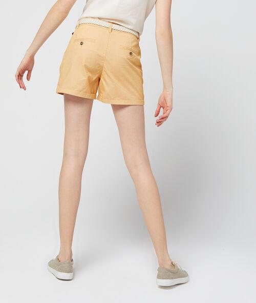 Short chino de rayas de algodón 100% orgánico