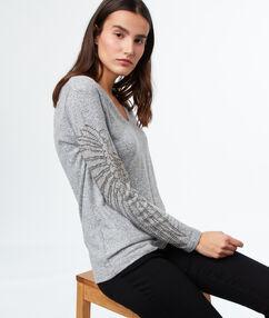 Jersey escote en v c.gris.