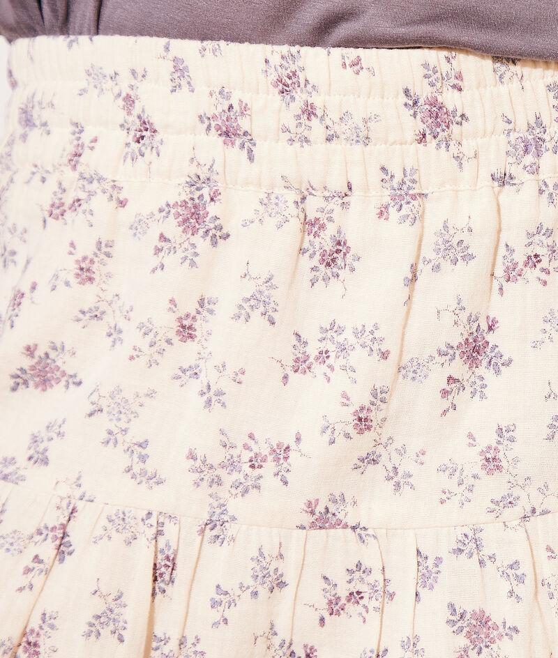 Falda corta estampada algodón