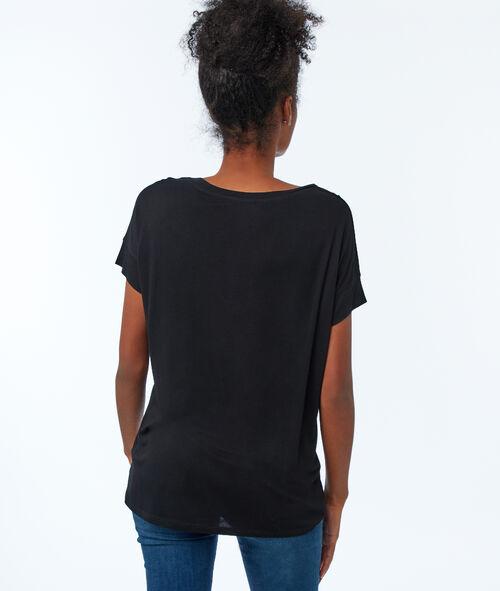 Camiseta lisa escote en V